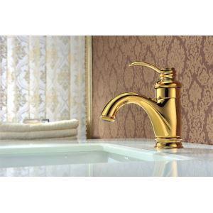 Afficher les détails pour (Entrepôt UE) Mitigeur finition couleur d'or lavabo robinet