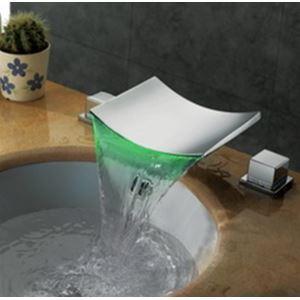 (Entrepôt UE) Couleur changeante Led robinet en laiton chromé plaqué d'eau