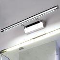 Applique murale LED en acier inox luminaire avant miroir pour salle de bains