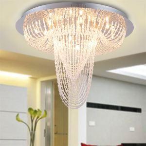 Crystal lustre avec 18 lumières (finition chromée)