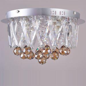(Entrepôt UE) K9 cristal plafonnier encastré avec 4 lampes