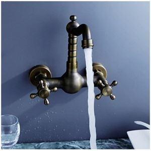 Mitigeur de lavabo laiton rétro H15cm pour salle de bains
