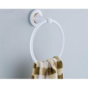Anneau de serviette en laiton massif pour salle de bain contemporain