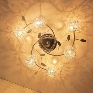 Plafonnier en aluminium cristal 20W pour chambre salle