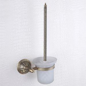 Porte brosse de toilette laiton bronze
