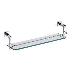 Etagères de salle de bains en verre chrome L44.8cm