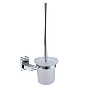 (Entrepôt UE) Nouveau moderne couleur de chrome porte-brosse à toilette en laiton