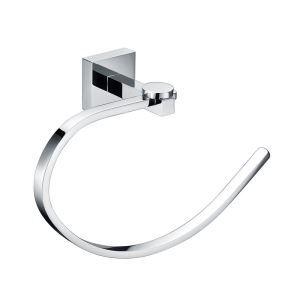 Porte-serviettes laiton massif anneau suite L 20.5 cm pour salle de bains