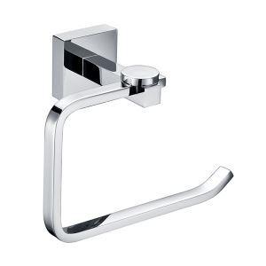 Porte-serviettes laiton chromé anneau flat pour salle de bains