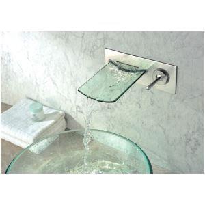 Robinet de baignoire en verre chromé pour salle de bain
