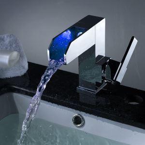 Robinet de lavabo cascade pour salle de bains contemporain