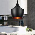 Lustre aluminium D 23 cm noir ou blanc pour cuisine couloir pas cher