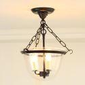 (Entrepôt UE) Plafonnier style campagne 40W E14 lampe suspendue à 3 Lumières,