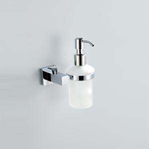 (Entrepôt UE) Moderne Contemporain Chrome Finition liquide Distributeur de savon  Argent mural Laiton Porte-savon