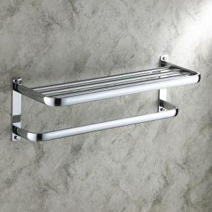Porte-serviette chrome L 59 cm pour salle de bains