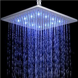 Pomme haute ronde Diam.25 cm laiton LED pour salle de bains pas cher