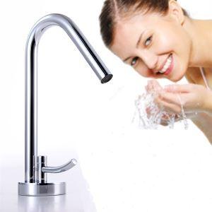 Robinet d'évier en laiton chrome mitigeur salle de bain contemporain