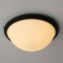 (Entrepôt UE) Américain Light Country Style Noir Fer et verre Flush Mount Ceiling Light