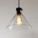 (Entrepôt UE) 40W E26 / E27 Pays Pendant Light Iron & Light plafond de verre (chaîne réglable)