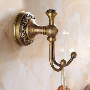 Afficher les détails pour Crochet laiton antique accessoires de salle de bains