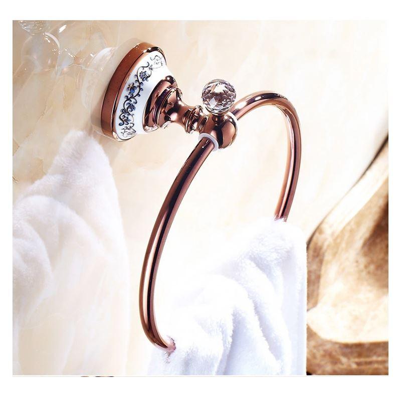 out of stock - (Entrepôt UE) Style européen accessoires de salle de bain  Rose Or Porte-serviettes