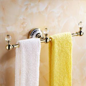 (Entrepôt UE) Moderne Accessoires de salle de bain Ti-PVD Porte-serviettes en laiton