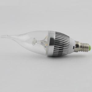 Ampoule LED bougie Argent 3W E14 270 LM pour lustre cristal