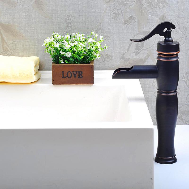 Robinets - Robinet de Lavabo - (Entrepôt UE) Robinet d'évier ancien évier  Lavabo mitigeur Bronze huilé salle de bain