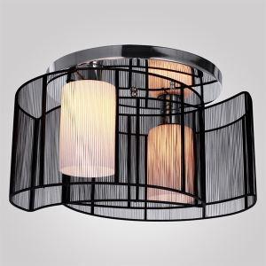 Plafonnier à 2 lampes D 40 cm noir pas cher pour cuisine chambre