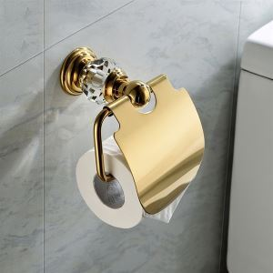 Porte papier toilette murale contemporain couleur d'or