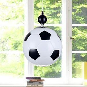 Suspension en forme de football 1 lumière pour chambre d'enfant D15cm