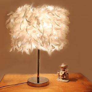 (Entrepôt UE) 40W Contemporain Lampe de table avec 1 lampe en fini électrolytique