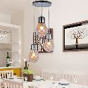 Suspension à 3 lampes D 40 cm en forme d'ampoule pour salle à manger salle