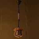 (Entrepôt UE) Lustre Américain Rétro Restaurant Café Salle chanvre Lampe en céramique
