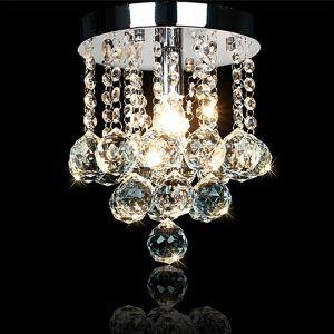 (Entrepôt UE) Lustres en cristal Lampes suspendues moderne lampe de chambre couloir