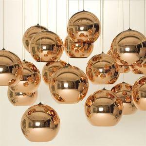 (Entrepôt UE) Mini Suspension en métal décorative 1 lampe luminaire pour chambre salon salle pas cher