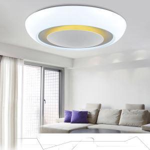 (Entrepôt UE) Moderne Acrylique Simple Créatif LED blanche ronde encastrée Lumière Salon étude de Chambre Salle à manger