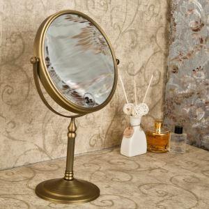Miroir de maquillage européen en cuivre antique accessoires de salle de bain