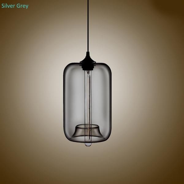 Suspension Verre Transparent H34cm Transparent Bulle Luminaire