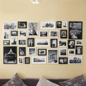(Entrepôt UE) Moderne Cadre de photo Collection en Bois - Ensemble de 35 pièces