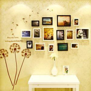 Cadre photo mural en bois 15 vues pour chambre