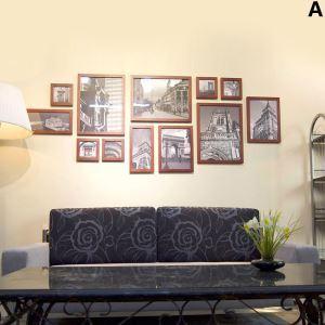 (Entrepôt UE) Nordique Cadre de photo Collection en bois- Ensemble de 12 pièces