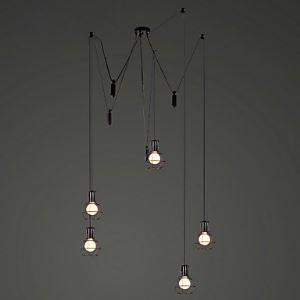Suspension araignée à 5 lumières en métal pour salon salle