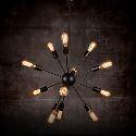 (Entrepôt UE) Creative 12-Ampoule Nickel brossé Chetelier