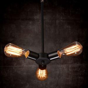 (Entrepôt UE) Lustre Ampoule 3 Ampoules Pays Style pourgé Fer à repasser