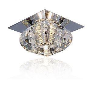 Plafonnier cristal D10cm mini style pour couloir