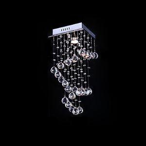(Entrepôt UE) Suspension Cristal Décoration lampe de plafond à 1 Lampe pour cuisine salle salon chambre