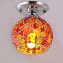 (Entrepôt UE) Plafonnier installation intégrée, 1 Lampe, Créatif  verre plaqué