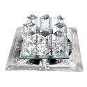 (Entrepôt UE) Plafonnier led crIstal installation intégrée, 1 Lampe, Moderne délicat Métal