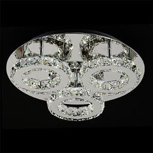 Plafonnier LED intégrée K9 Cristal à 3 cercles D40cm